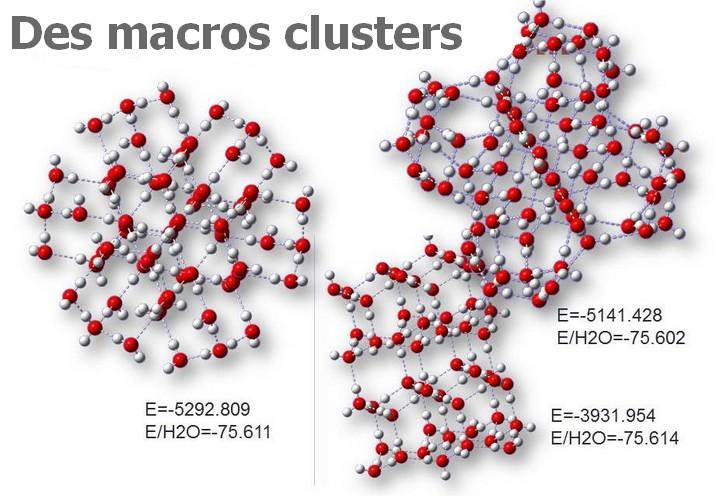 bioélectronique eau macro cluster