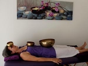 energescence sonotherapie séance bol couché